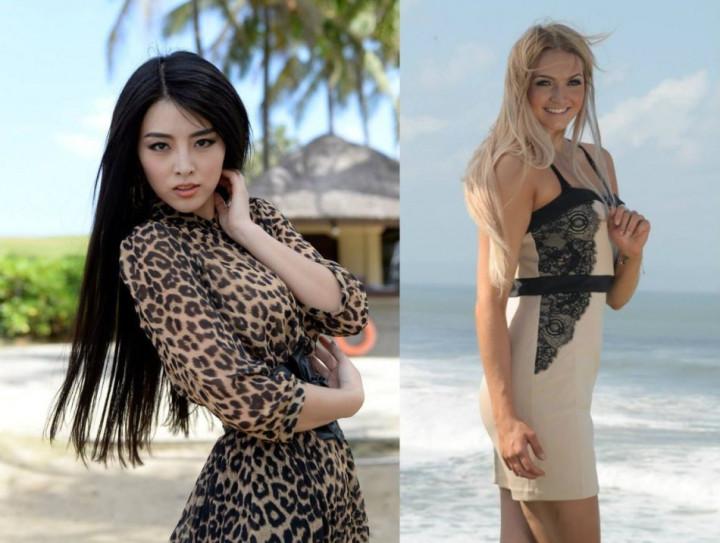 Miss World China PR 2013, Wei Wei Yu (L) and Miss World Finland 2013, Majja Kerisalmi (Photo: Miss World/Facebook)