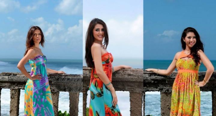 Miss World Cyprus 2013, Kristy Marie (L); Miss World Malaysia 2013, Melinder Bhullar (C); and Miss World Singapore 2013, Maria Anna (Photo: Miss World/Facebook)