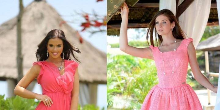 Miss World New Zealand 2013, Ella Langsford (L) and Miss World Ukraine 2013, Anna Zaiachkivska (Photo: Miss World/Facebook)