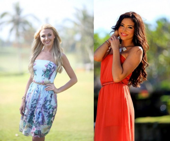 Miss World Northern Ireland 2013, Meagan Green (L) and Miss World Scotland 2013, Jamey Bowers (Photo: Miss World/Facebook)