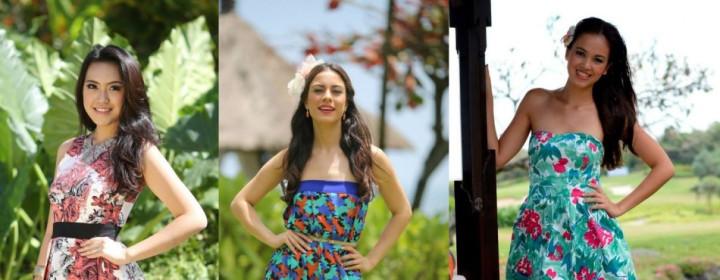 Miss World Indonesia 2013, Vania Larissa (L); Miss World Paraguay 2013, Coral Ruiz (C); and Miss World Fiji 2013, Caireen Erbsleben (Photo: Miss World/Facebook)