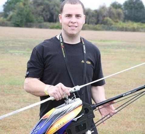 Roman Pirozek Jr, was known to perform daring stunts using his model helicopter (Facebook)
