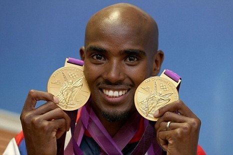 Somali-born British athlete Mo Farah