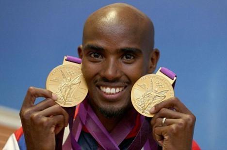 Somali-born British athlete Mo Farah