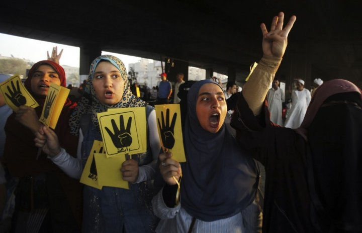 Supporters of ousted Egypt's president Morsi