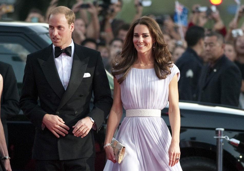 Prince William and Catherine, Duchess of Cambridge, arrive at the BAFTA Brits to Watch event in Los Angeles, California July 9, 2011. A new wax figure of Kate at Madame Tussauds wax museum in Washington DC will be dressed in the same gown she wore to the