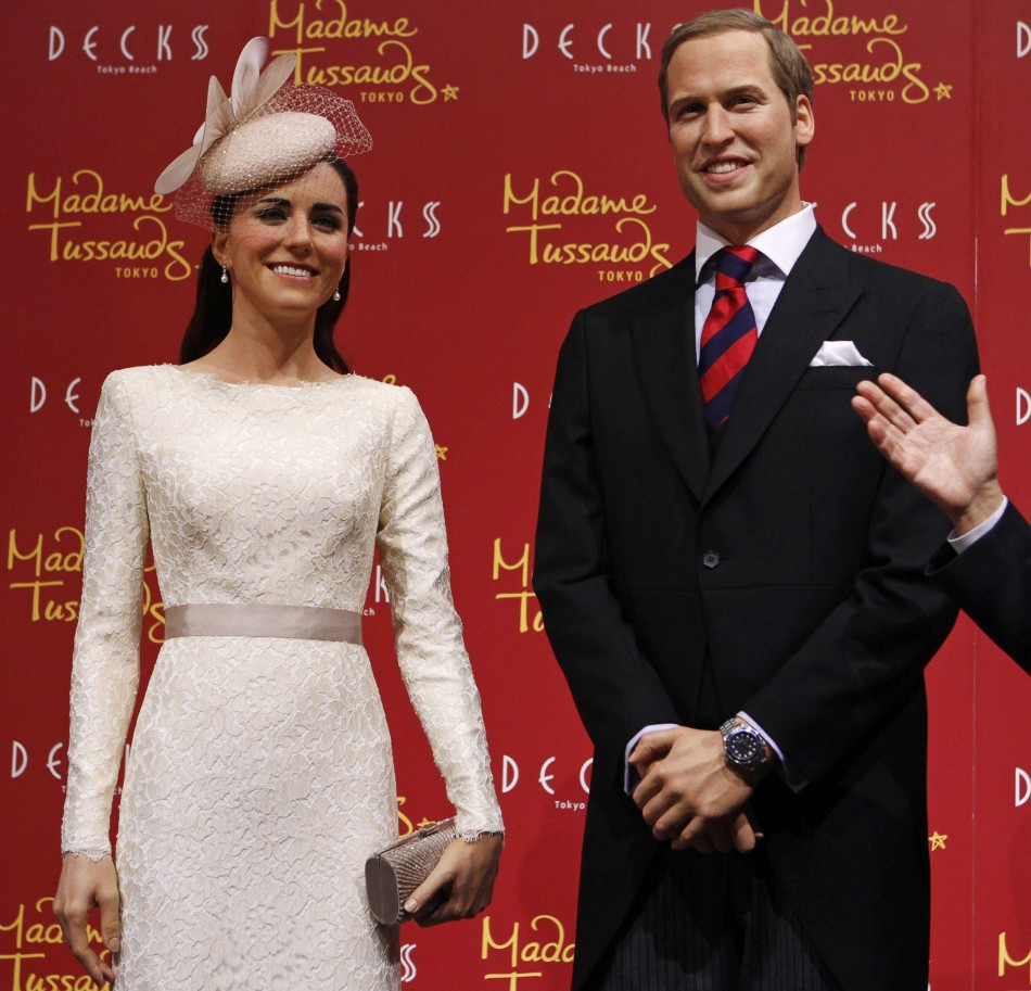 Wax figures of Prince William and Kate Middleton are displayed during a media briefing for the opening of the Madame Tussauds Tokyo wax museum, in Tokyo November 28, 2012. (Reuters)