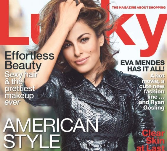 American actress/model Eva Mendes is the latest star to grace the cover of Lucky magazine's October issue.