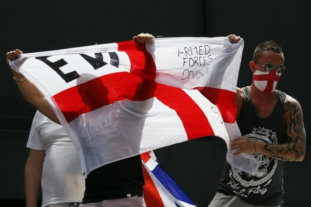 EDL supporters protest in June in Birmingham
