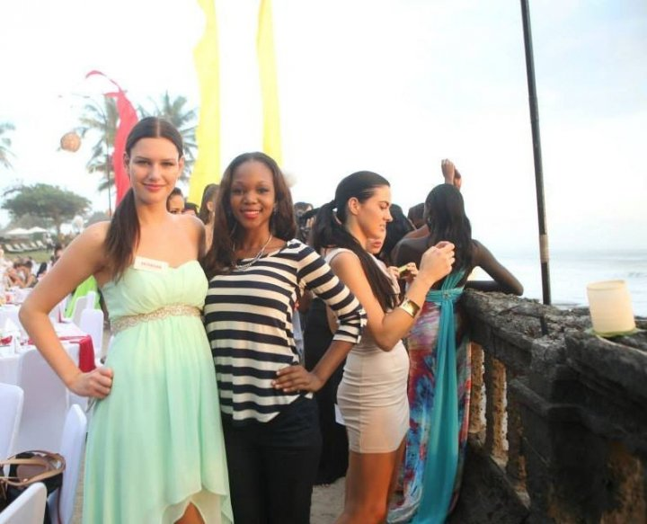 (L to R) Miss World Denmark, Miss World Haiti and Miss World Bosnia