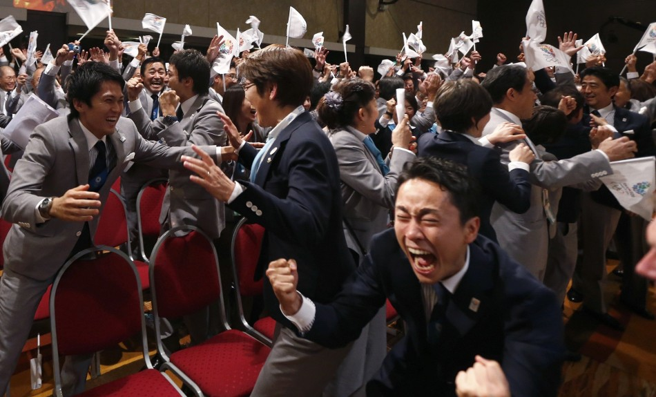 Japan's Olympic bid committe celebrated Tokyo being announced as host of the 2020 games.