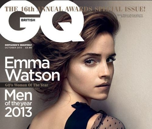 Emma Watson looks stunning on the cover of the GQ magazine's October issue.