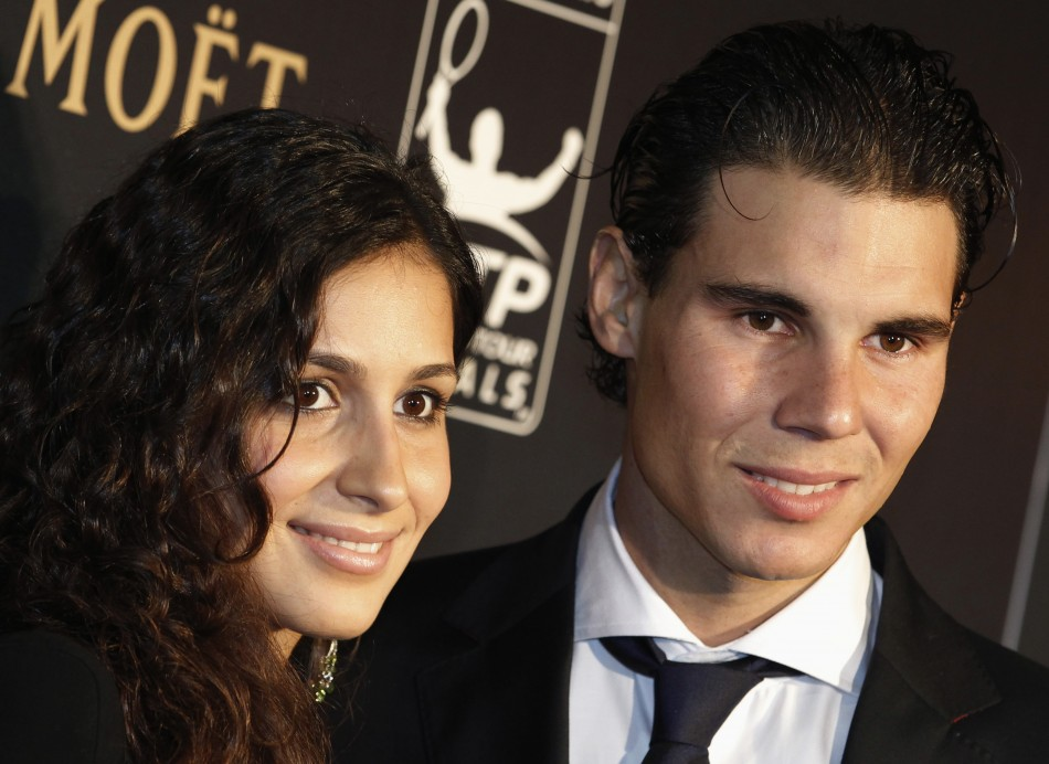 Spanish tennis player Rafael Nadal and girlfriend Maria Francisca Perello at the ATP World Tour Gala at Battersea Power Station in London, 2011.