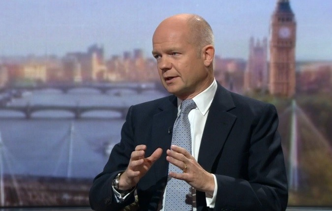 British Foreign Secretary William Hague