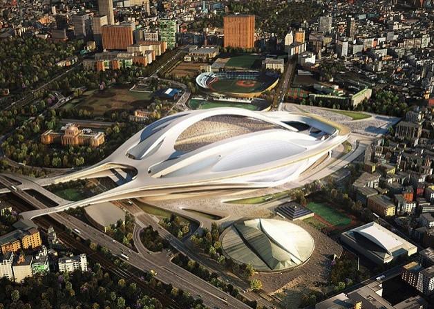 Zaha Hadid design for Kasumigaoka National Stadium, Tokyo.
