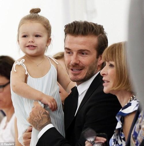 Harper and David Beckham