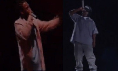 Holograms of Ol' Dirty bastard (L) and Eazy-E perform at at the 2013 Rock the Bells in Los Angeles, California