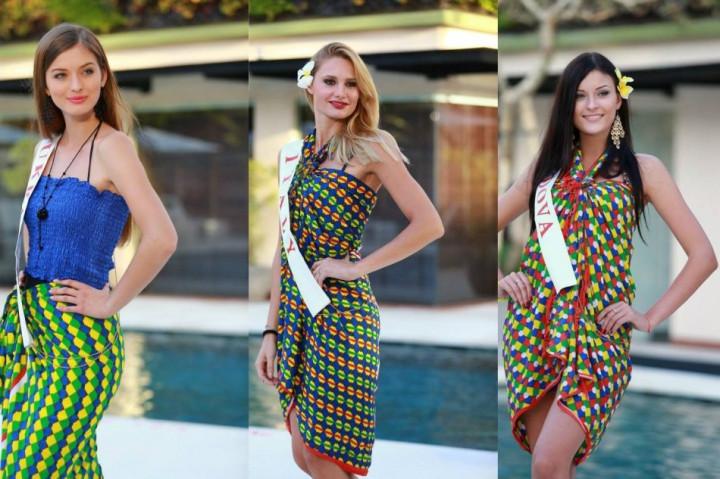 (L to R) Miss World Ukraine 2013, Anna Zaiachkivska; Miss World Italy 2013, Sarah Baderna; and Miss World Moldova 2013, Valeriya Tsurkan (Photo: Miss World/Facebook)