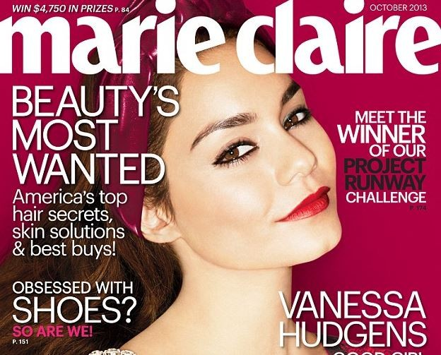 American actress/singer Vanessa Hudgens looks gorgeous on the latest cover of Marie Claire.