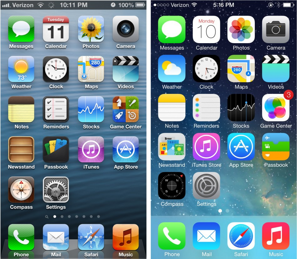 iOS 7 Home Screen