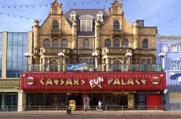 Caesar's Bar at Great Yarmouth seaside resort town