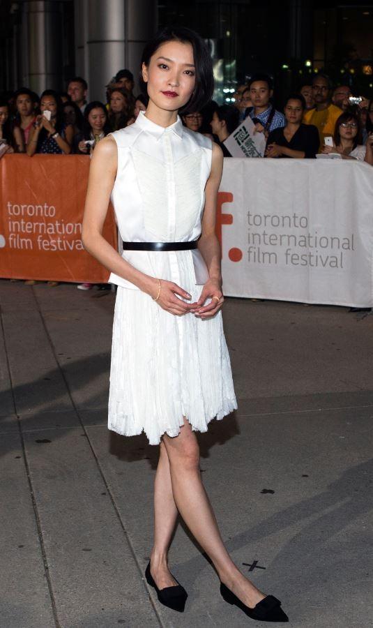 Du Juan arrives for the American Dreams in China screening at the 38th Toronto International Film Festival in Toronto, September 10, 2013.