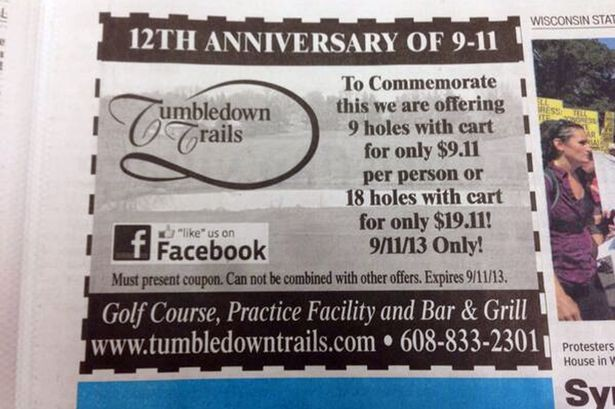 The advert went viral after appearing in the Wisconsin State Journal (Twitter/@@joshorton)