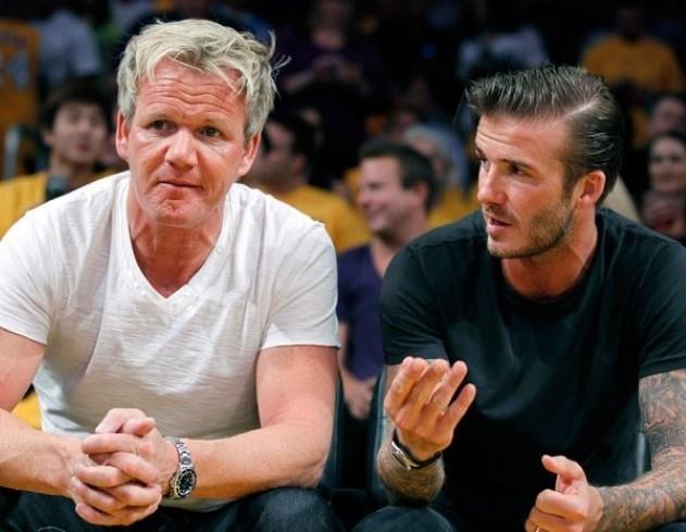 David Beckham Gordon Ramsay Restaurant London