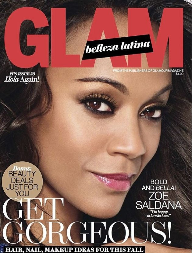 Zoe Saldana graced the latest cover of Glam Belleza Latina magazine