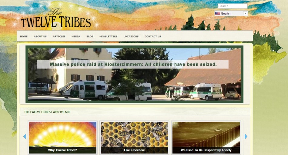 Twelve Tribes website carries news of abuse arrests PIC: Twelvetribes.com
