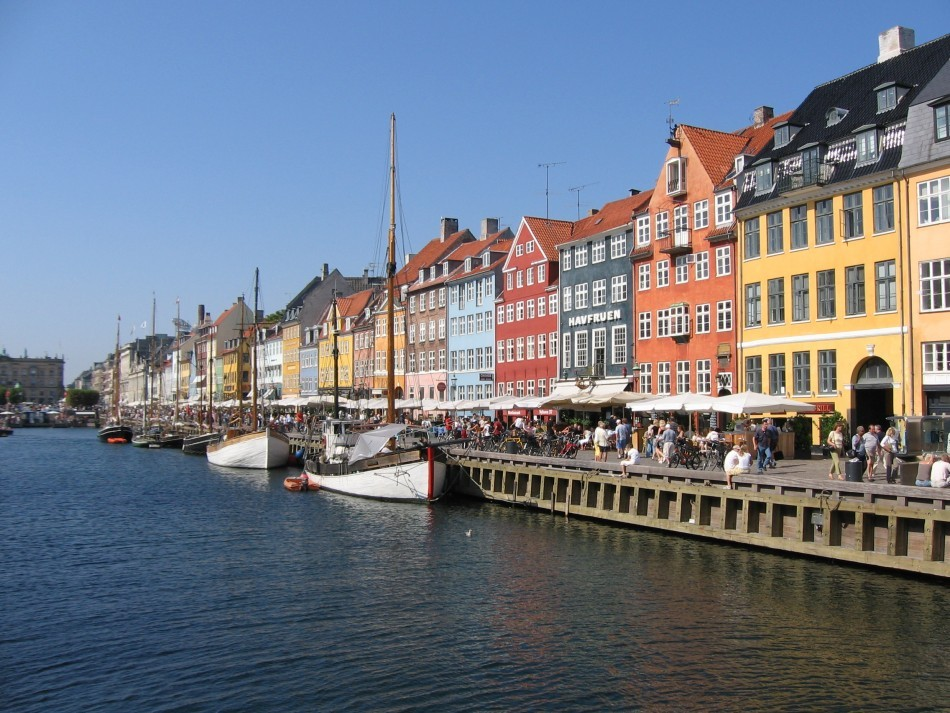 Boats are seen anchored at the 17th century Nyhavn district, home to many shops and restaurants in Copenhagen, Denmark. Denmark is the world's happiest country, according to UN General Assembly's World Happiness Report 2013. (Photo: stock.xchng)