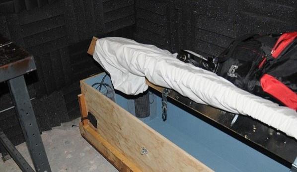 Police discovered a child-sized coffin inside Geoffrey Portway's home (USDOJ)