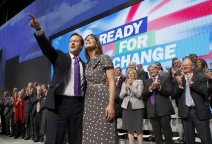 David and Samantha Cameron at Tory Party Conference
