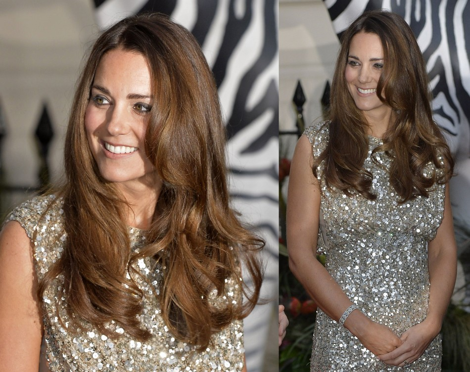 Kate Middleton chose a dress by one of her favourite designers, Jenny Packham, for the charity gala. (Reuters)