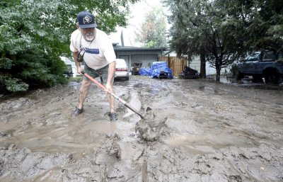 Boulder mud floods