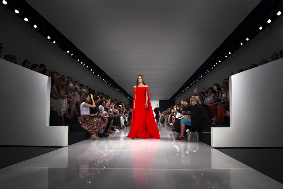 Ralph Lauren's Spring/Summer 2014 collection during was dominated by bright colours. (REUTERS/Lucas Jackson)