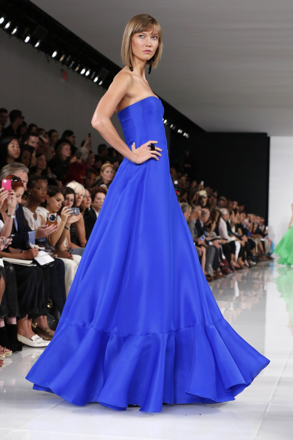 Ralph Lauren's Spring/Summer 2014 collection featured girly gowns. (REUTERS/Lucas Jackson)
