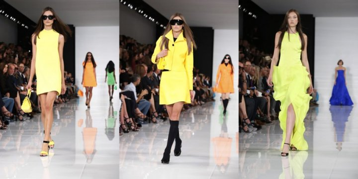 Ralph Lauren's neon creations dominated his Spring/Summer 2014 collection. (REUTERS/Lucas Jackson)