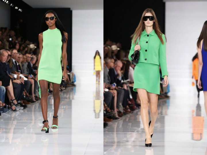 Ralph Lauren wrapped the show with his colourful Spring/Summer 2014 collection. (REUTERS/Lucas Jackson)