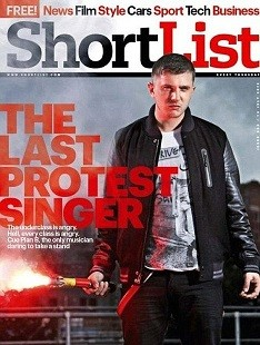 Plan B was photographed for Shortlist magazine  with a t-shirt bearing the band name Skrewdriver