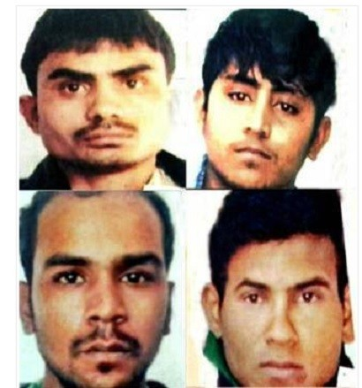 Delhi bus rapists, clockwise from top left: Akshay Kumar, Pawan gupta, Vinay Sharma and Mukesh Singh