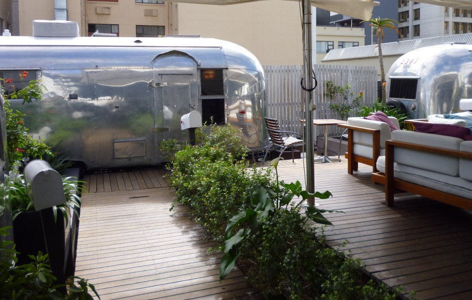 Grand Daddy Hotel's Airstream Rooftop Trailer Park