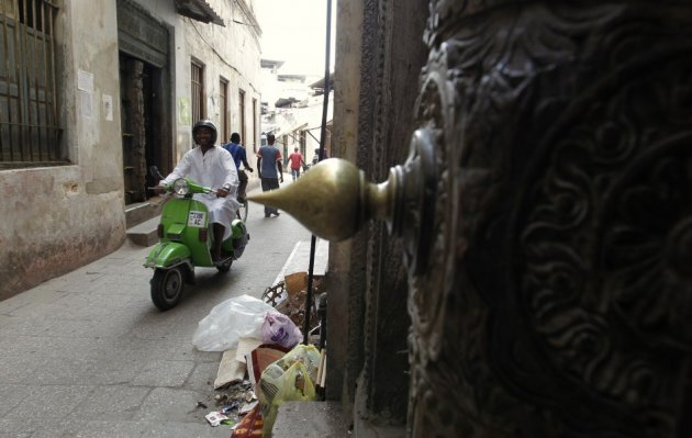 Stone Town, Zanzibar City, where a priest was attacked with acid on Friday.