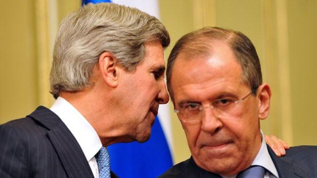 John Kerry meets Sergei Lavrov