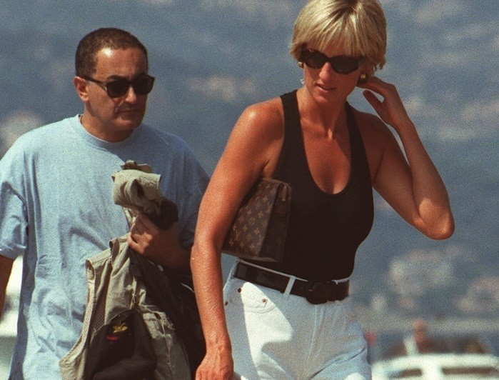 Princess Diana with Dodi Fayed