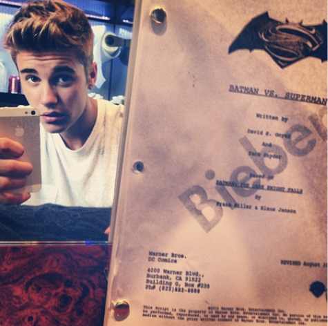 Is Justin Bieber The New Robin in Batman vs Superman/Instagram/JustinBieber