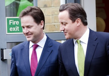 Lib Dem leader Nick Clegg believes a coalition government is good for Britain and indicated he could do a deal with Labour as well as the Tories.