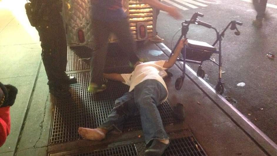 One of the bystanders injured in the shooting