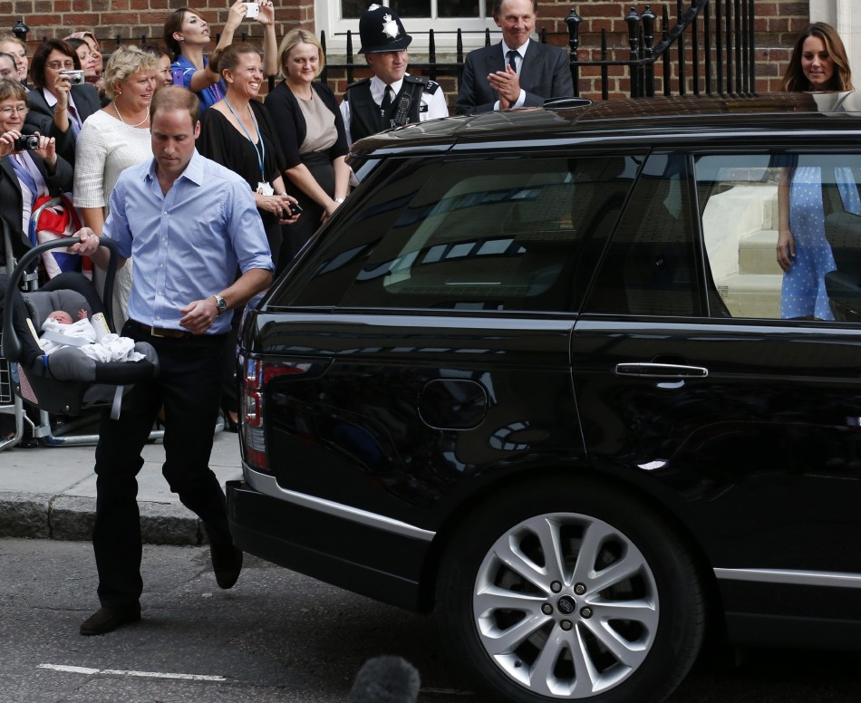 In his first major television appearance since becoming a father, Prince William relives driving his wife Kate and new son Prince George home from St Mary's Hospital