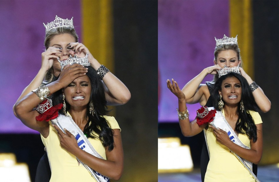 Davuluri, 24, won the 2014 Miss America Pageant on Sunday, giving the prize to Miss New York for the second year in a row. (REUTERS/Lucas Jackson)